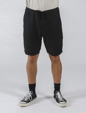 Load image into Gallery viewer, TANNER LINEN SHORT BLACK