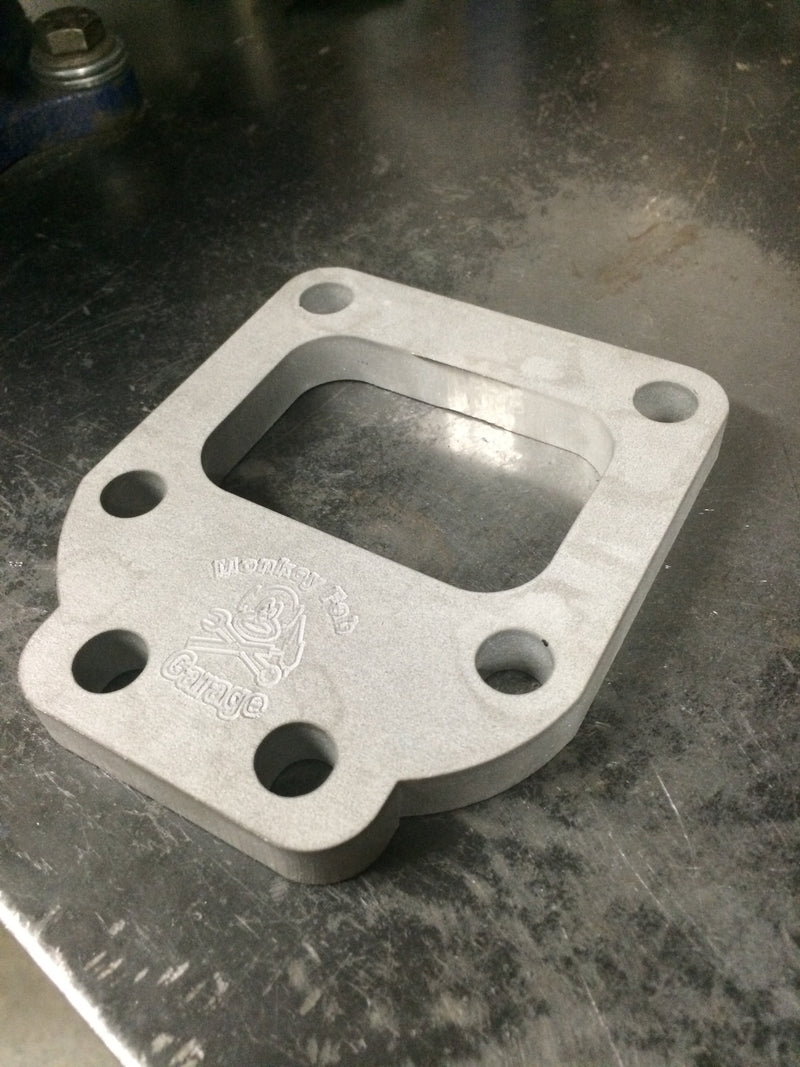 "T4 Undivided 1/2"" Stainless Steel Flange with Support tab"
