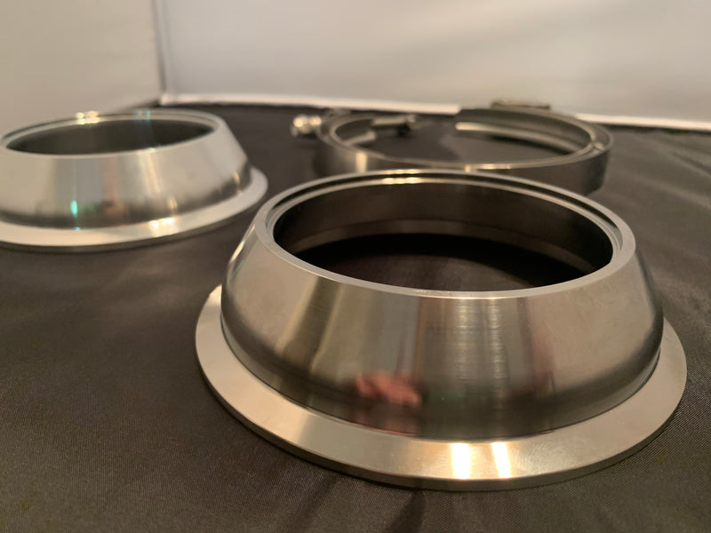 "T6 5"" to 4"" Marmon V-band reducer flange BW Style"