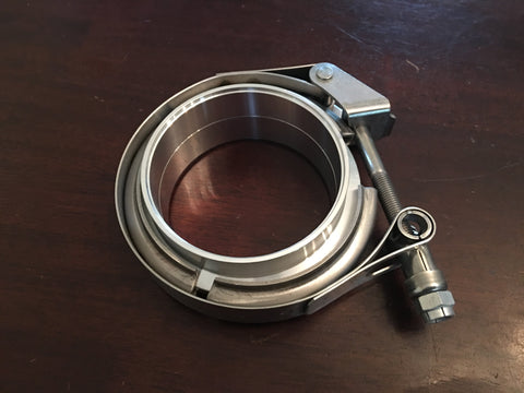 V Band Assembly, Half and half SS & Aluminum, w/Clamp