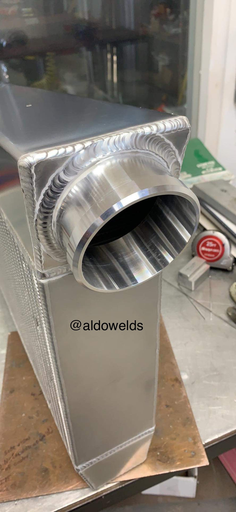 Billet Intercooler Ends Stubs  MFG Custom
