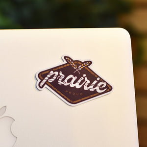 Unisex - Acre Sticker - Blackberry / Gold