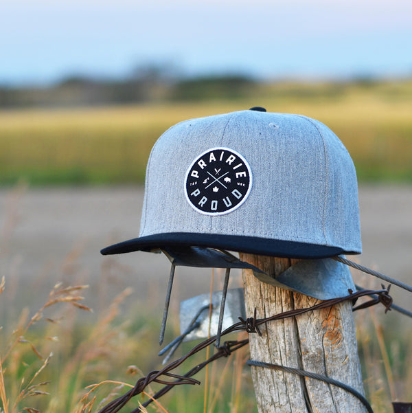 Unisex - Axle Snapback - Heather Grey / Black