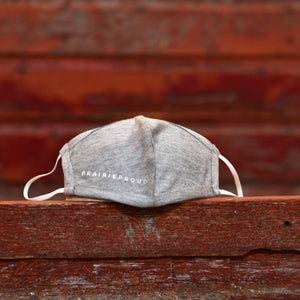 Unisex - Prairie Proud Mask - Heather Grey