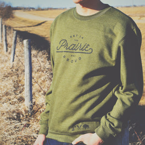 Mens - Backroad Crew Sweater - Army