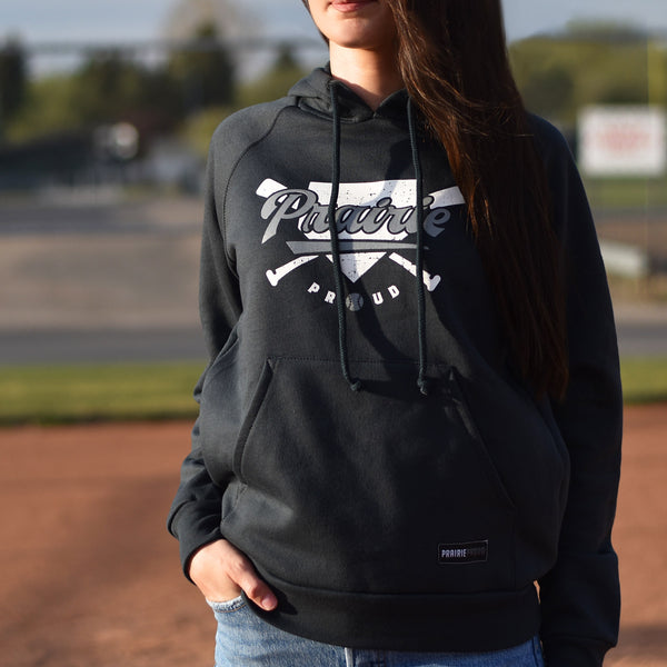 Ladies - Home Run Raglan Hood - Charcoal