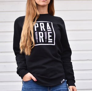 Ladies - Plains 2.0 Scoop Crew Sweater - Black