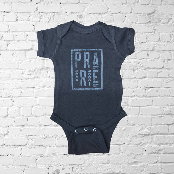 Kids - Plains 2.0 Baby Onesie - Charcoal