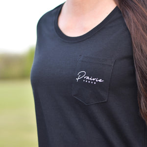 Ladies - Rivers Scoop Pocket T - Black