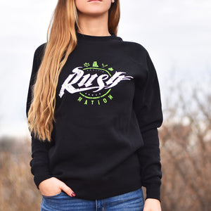 Unisex - Rush Nation Crew Sweater - Black