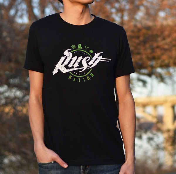 Unisex - Rush Nation Crew T - Black
