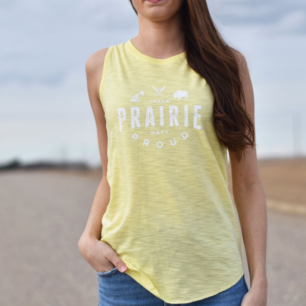 Ladies - Range 2.0 Scoop Tank - Heather Banana