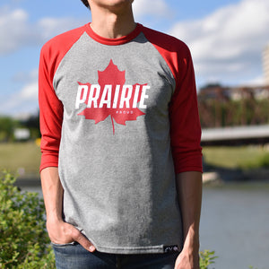 Unisex - True North 2.0 3/4 Raglan - Red / Heather Grey