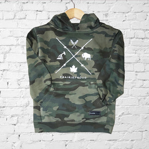 Youth - Barb Wire Hood - Forest Camo