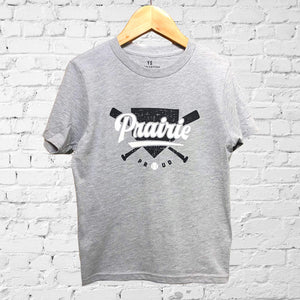 Youth - Homerun Crew T- Heather Grey