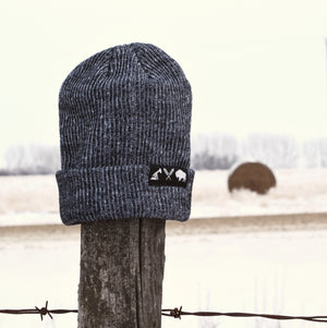 Unisex - Prairie Beanie x Mosaic - Heather Black