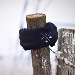 Unisex - Barb Wire Winter Buff - Black