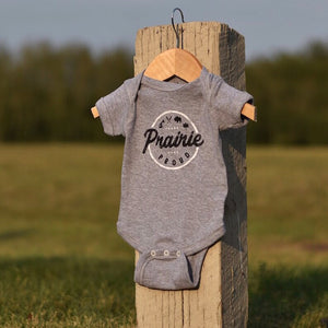 Kids - Compass Baby Onesie - Heather Grey
