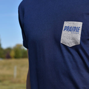 Mens - Prairie Pocket T - Navy / Grey