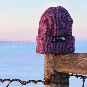 Unisex - Prairie Beanie x Mosaic - Heather Cranberry