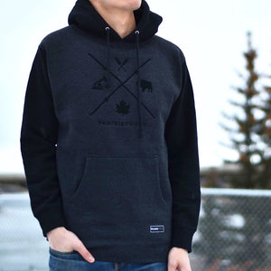 Mens - Barb Wire Hood - Black / Charcoal
