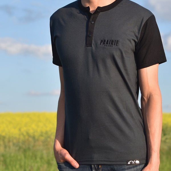 Mens - Prairie Henley - Charcoal / Black