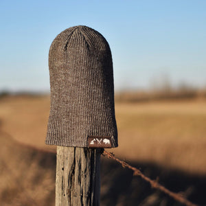 Unisex - Prairie Slouch / Beanie - Heather Brown