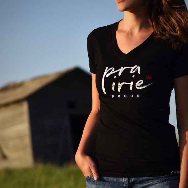 Ladies - Maple V-Neck - Black