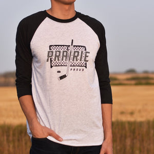 Unisex - Crossbar 3/4 Raglan - Heather White / Black