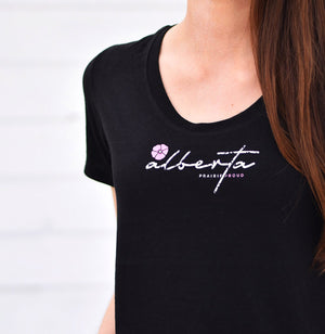 Ladies - Alberta 5.0 Scoop T - Black