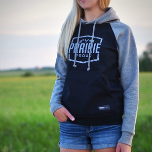 Ladies - Prairie Raglan Hood - Grey / Black