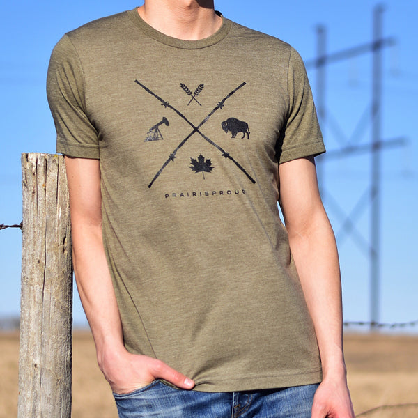 Unisex - Barb Wire Crew T - Army