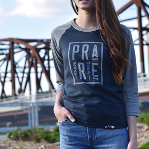 Ladies - Plains 2.0 3/4 Raglan - Grey / Charcoal