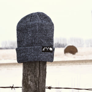 Unisex - Prairie Slouch / Beanie - Heather Black