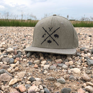Unisex - Barb Wire Snapback - Stone Heather Tech