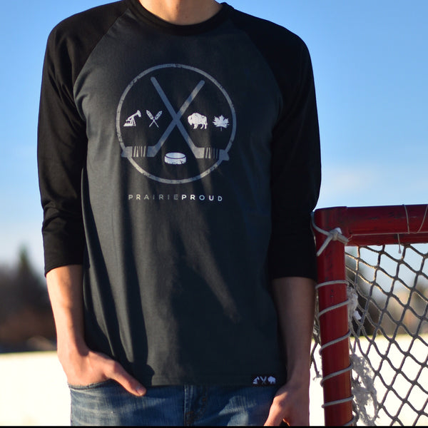 Mens - ODR 2.0 3/4 Raglan - Black / Charcoal