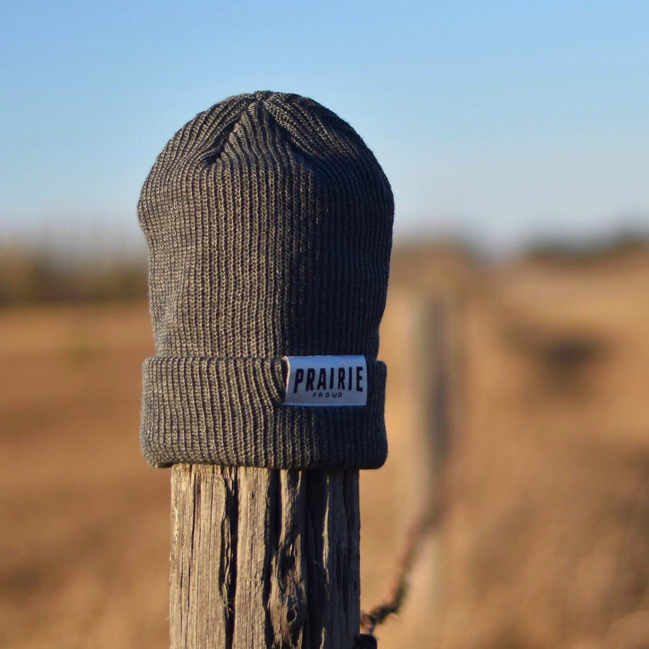 91dd0ddd564 Kids - Prairie Slouch   Beanie - Heather Grey - Prairie Proud