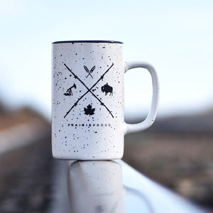 Unisex - Barb Wire Ceramic Mug - White