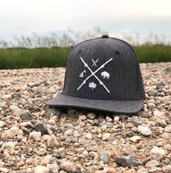 Unisex - Barb Wire Snapback - Grey Heather Tech
