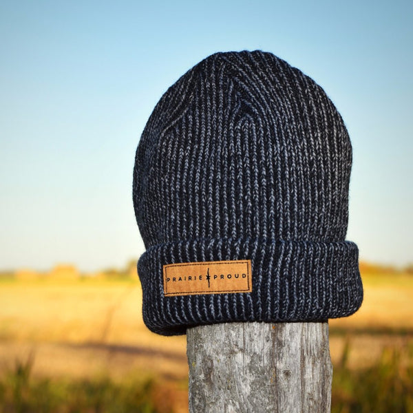 Unisex - Barb Wire Beanie - Heather Black
