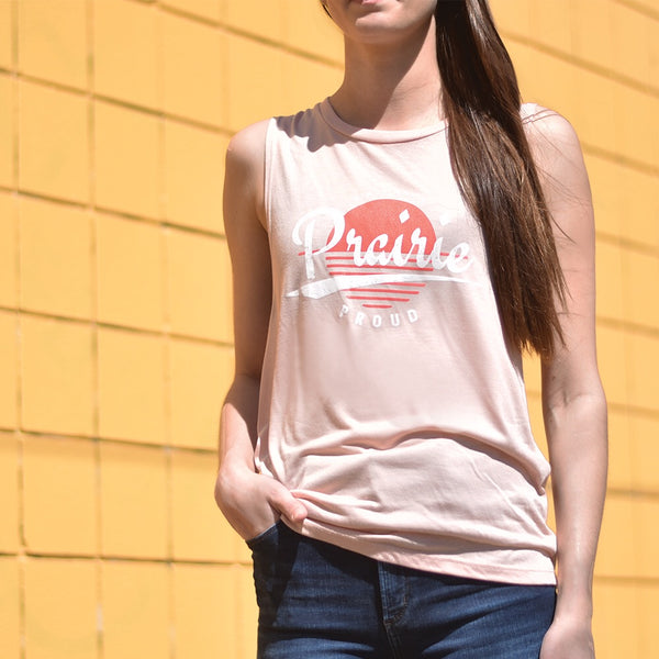 Ladies -  Solstice Muscle Tank - Peach