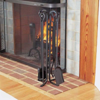 18003 Pilgrim Forged Hearth Fireplace Tool Set