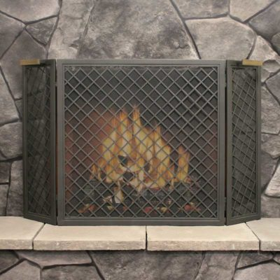 18227 Pilgrim Stanton Tri Panel Fireplace Screen