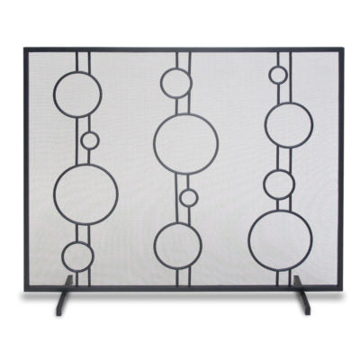 Pilgrim Luna Black or Polished stainless Fireplace Screen