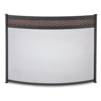 18349 Pilgrim Basket Weave Fireplace Screen
