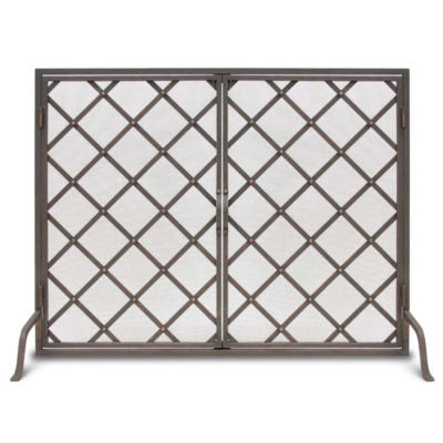 18450 Pilgrim Iron Weave Door Fireplace Screen