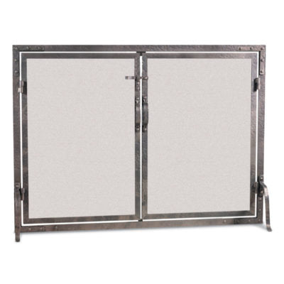 18474 Pilgrim Old World Straight Door Fireplace Screen