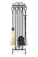 19014 Pilgrim Country Scroll Fireplace Tool Set