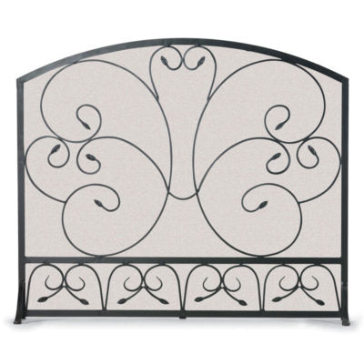 19254 Country Scroll Arch Flat Panel Fireplace Screen