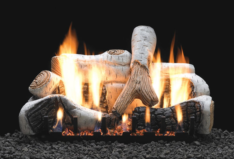 White Mountain Hearth Ceramic Fiber Birch Log Set